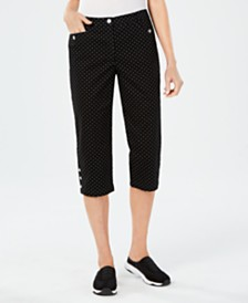 Karen Scott Polka Dot Capri Pants, Created for Macy's