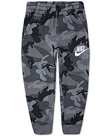 Nike Toddler Boys Camo-Print Fleece Jogger Pants
