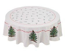 "Spode Christmas Tree Tablecloth, 70"" Round"
