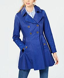 Via Spiga Petite Hooded Skirted Trench Coat