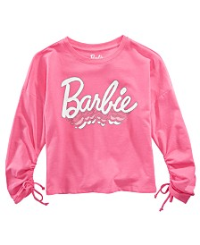 Barbie Big Girls Ruched-Sleeve Top