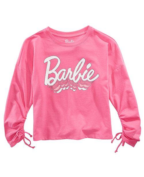 Evy of California Barbie Big Girls Ruched-Sleeve Top