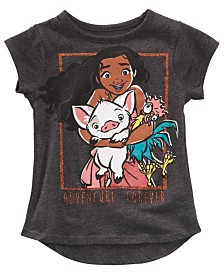 Disney Little Girls Moana & Friends T-Shirt