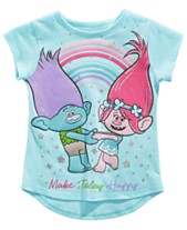 3726db3f9 Trolls by DreamWorks Little Girls Make Today Happy T-Shirt