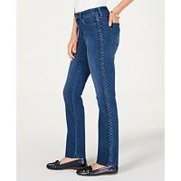 Charter Club Lexington Straight Leg Braid Stripe Jeans