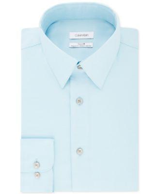 calvin klein men\u0027s shirts macy\u0027scalvin klein men\u0027s steel classic regular non iron stretch performance dress shirt