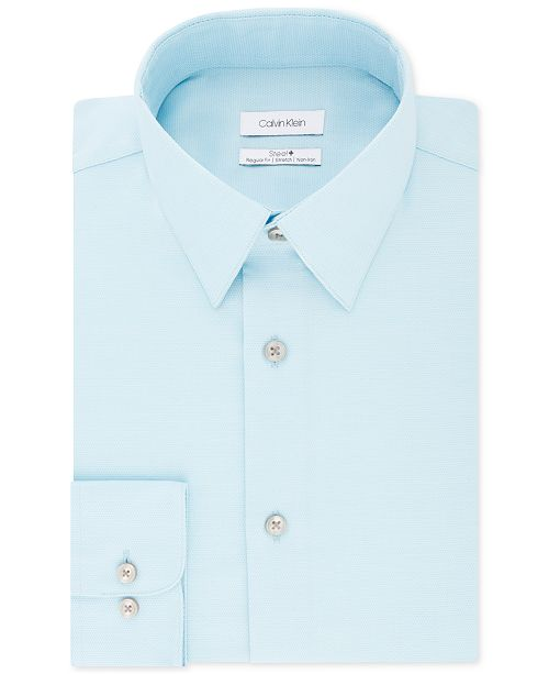 Calvin Klein Calvin Klein Men's STEEL Classic/Regular Non-Iron Stretch Performance Dress Shirt
