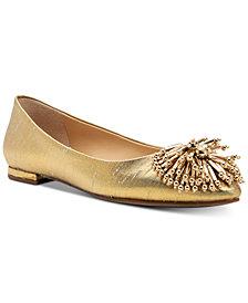 Katy Perry Rayann Shiny Woven Ballet Flats