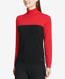 Calvin Klein Colorblock Turtleneck Sweater