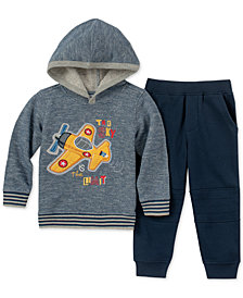 Kids Headquarters Little Boys 2-Pc. Airplane Hoodie & Jogger Pants Set