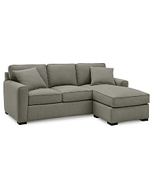 """Callington 89"""" Fabric 2-Piece Reversible Chaise Sectional Sofa, Created for Macy's"""