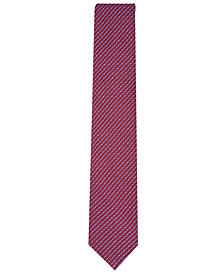 Nautica Men's Agnes Slim Grid Silk Tie