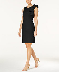 Calvin Klein Ruffled Sheath Dress, Regular & Petite Sizes