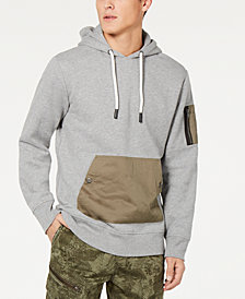 American Rag Men's Woven Pocket Hoodie, Created for Macy's