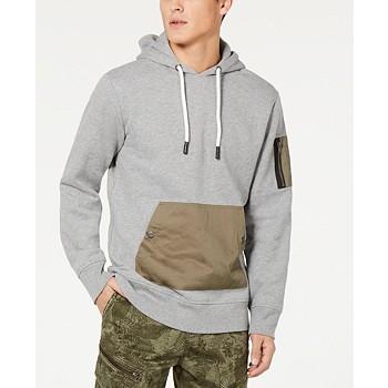 American Rag Men's Woven Pocket Hoodie