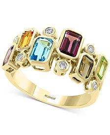 EFFY® Multi-Gemstone (2-3/8 ct .t.w.) & Diamond (1/6 ct. t.w.) Ring in 14k Gold