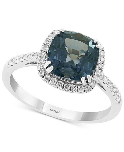 EFFY Collection EFFY® Grey Spinel (2-5/8 ct. t.w.) & Diamond (1/4 ct. t.w.) Ring in 14k White Gold