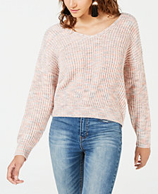 American Rag Juniors' Twist-Back Marled Sweater, Created for Macy's