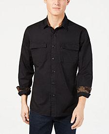 American Rag Men's Camo-Trim Shirt, Created for Macy's