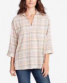 WILLIAM RAST Juniors' Maisie Crisscross Plaid Shirt