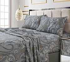 Paisley Park Printed Sateen Extra Deep Pocket King Sheet Set
