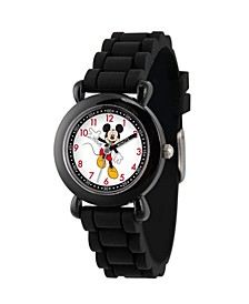 Disney Mickey Mouse Boys' Black Plastic Time Teacher Watch