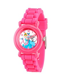 Disney Princess Cinderella Girls' Pink Plastic Time Teacher Watch
