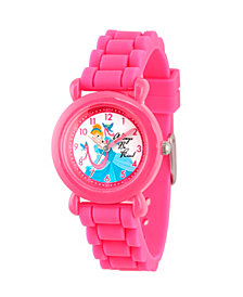 Disney Princess Cinderella Girls' Pink Plastic Time Teacher Watch