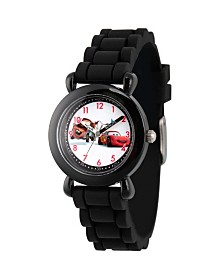 Disney Cars Mater and Lightning McQueen Boys' Black Plastic Time Teacher Watch
