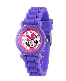 Disney Minnie Mouse Girls' Purple Plastic Time Teacher Watch