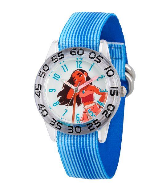 ewatchfactory Disney Moana Girls' Clear Plastic Time Teacher Watch