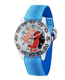 Disney Moana and Pua Girls' Clear Plastic Time Teacher Watch