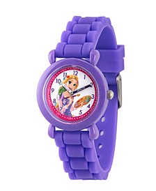 Disney Princess Rapunzel Girls' Purple Plastic Time Teacher Watch