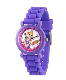 Disney Princess Rapunzel Girls' Purple Plastic Time Teacher Watch