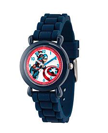 Marvel's Avengers: Captain America Boys' Blue Plastic Time Teacher Watch