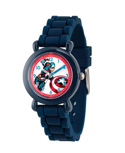 ewatchfactory Marvel's Avengers: Captain America Boys' Blue Plastic Time Teacher Watch