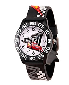 Disney Cars 3 Lightning McQueen Boys' Black Plastic Time Teacher Watch
