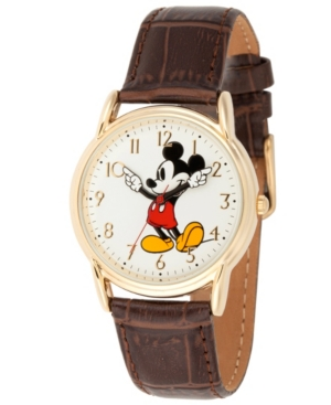 Disney Mickey Mouse Men's Gold Cardiff Alloy Watch