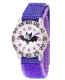 Disney Vampirina Girls' Clear Plastic Time Teacher Watch