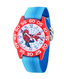 Marvel Spider-Man Boys' Red Plastic Time Teacher Watch