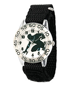 Marvel Black Panther & Avengers Boys' Clear Plastic Time Teacher Watch