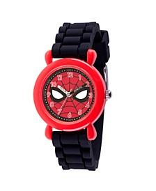 Marvel Spider-Man Boys' Red Plastic Time Teacher Watch
