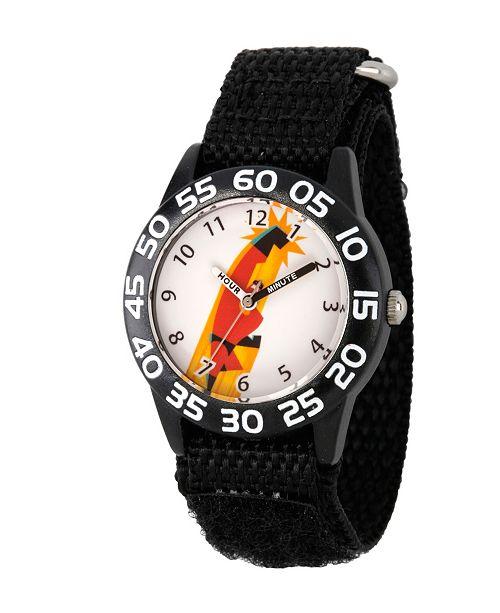 ewatchfactory Disney The Incredibles 2 Bob Parr Boys' Black Plastic Time Teacher Watch