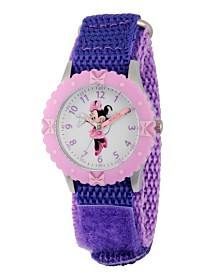 Disney Minnie Mouse Girls' Stainless Steel Time Teacher Watch