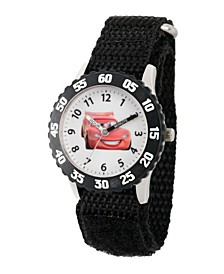 Disney Cars Lightning McQueen Boys' Stainless Steel Time Teacher Watch