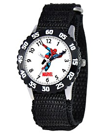 Marvel Spider-Man Boys' Stainless Steel Time Teacher Watch