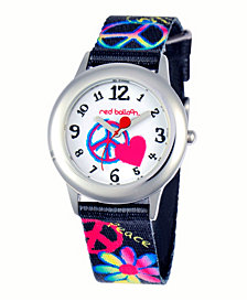 Red Balloon Peace, Love & Happiness Girls' Stainless Steel Watch