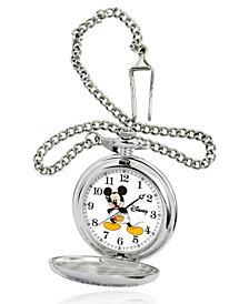 Disney Mickey Mouse Men's Silver Alloy Pocket Watch
