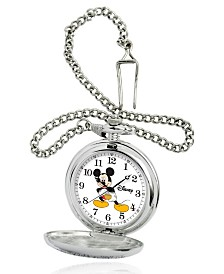 Disney Mickey Mouse Men's Silver Alloy Pocket Watch