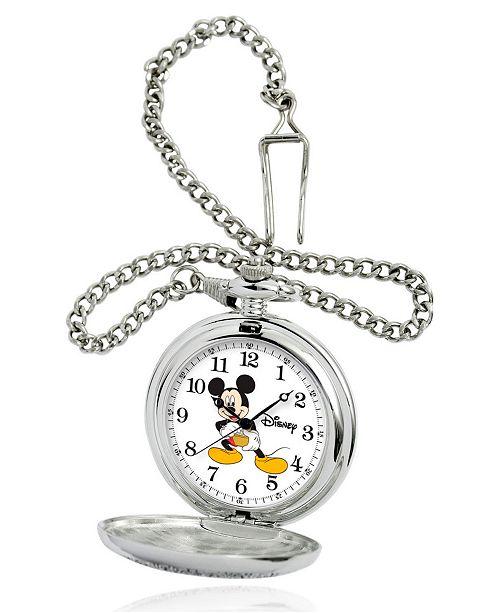 ewatchfactory Disney Mickey Mouse Men's Silver Alloy Pocket Watch